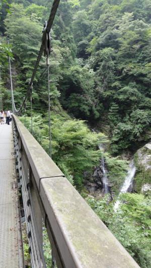 釣橋からの滝