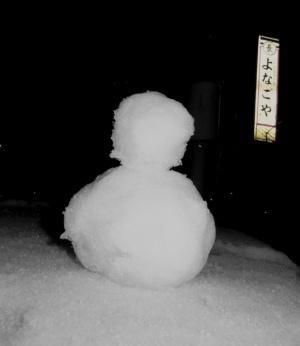 雪が降っています(ハチ北スキー場)