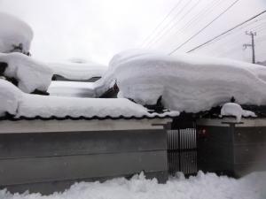 市原の家の雪下ろし