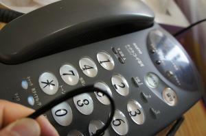 噛み切られてた電話線